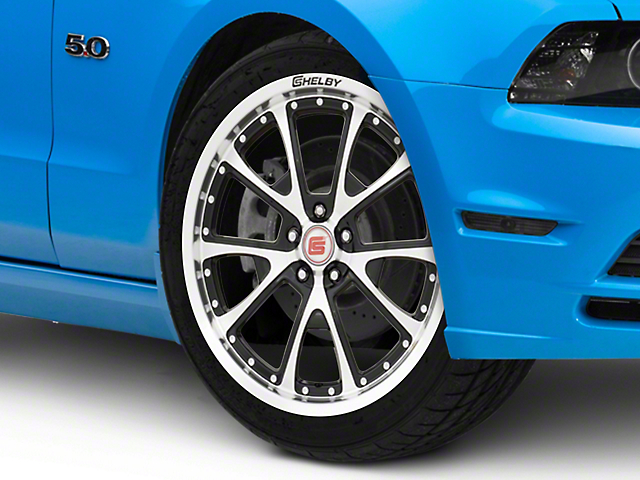 Shelby CS40 Black Machined Wheel; 20x9 (10-14 All)