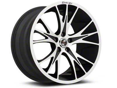 Shelby CS1 Black Machined Wheel - 20x11 - Rear Only (05-19 All)