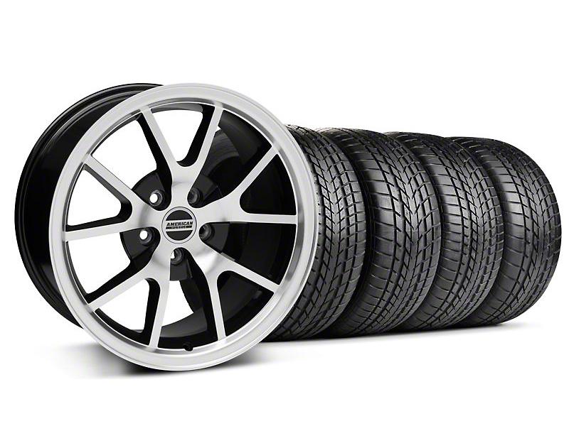 FR500 Style Black Machined Wheel & Sumitomo Tire Kit - 17x9 (99-04 All)