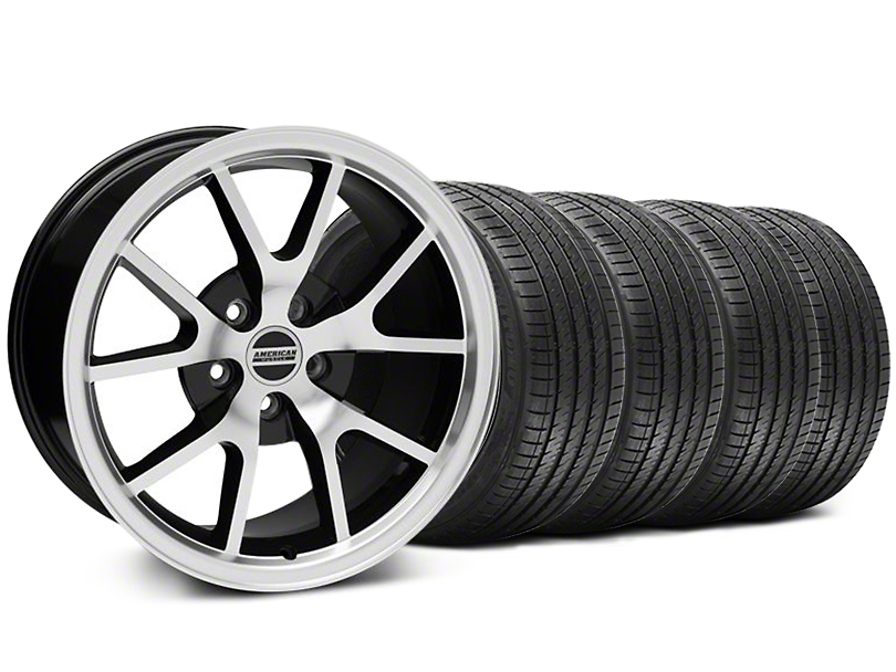 FR500 Style Black Machined Wheel & Sumitomo Maximum Performance HTR Z5 Tire Kit - 18x9 (05-14 All)