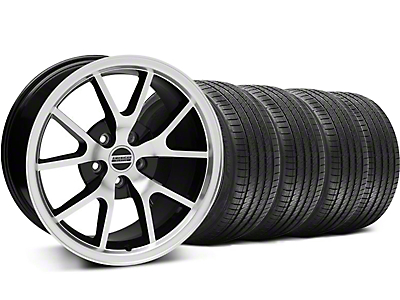 FR500 Style Black Machined Wheel & Sumitomo Tire Kit - 18x9 (94-98 All)