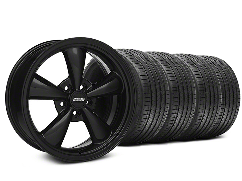 Bullitt Solid Black Wheel & Sumitomo Maximum Performance HTR Z5 Tire Kit - 18x8 (05-10 GT; 05-14 V6)