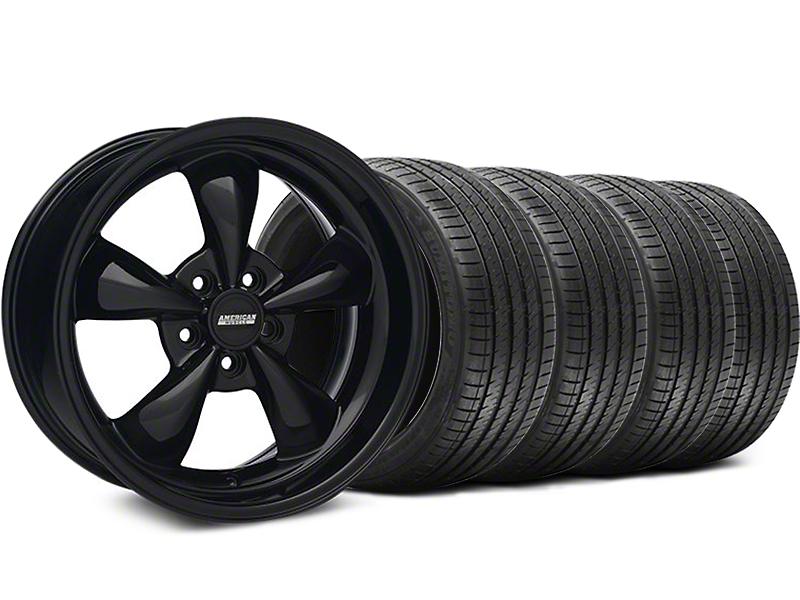 Bullitt Solid Gloss Black Wheel & Sumitomo Tire Kit - 18x9 (05-10 GT; 05-14 V6)
