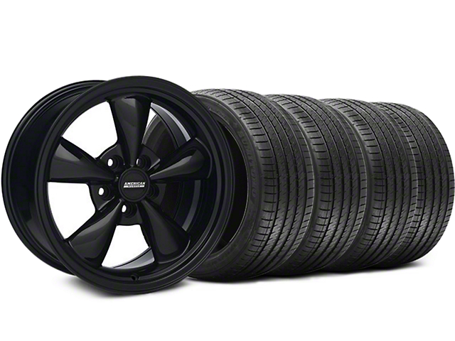 Bullitt Solid Black Wheel and Sumitomo Maximum Performance HTR Z5 Tire Kit; 17x8 (94-04 All)