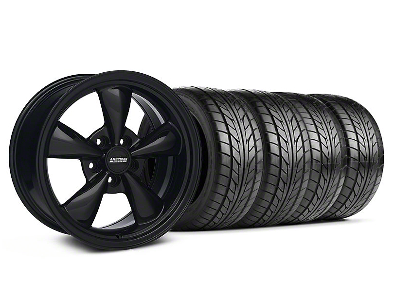 Bullitt Solid Black Wheel & NITTO Tire Kit - 17x9 (94-98 All)