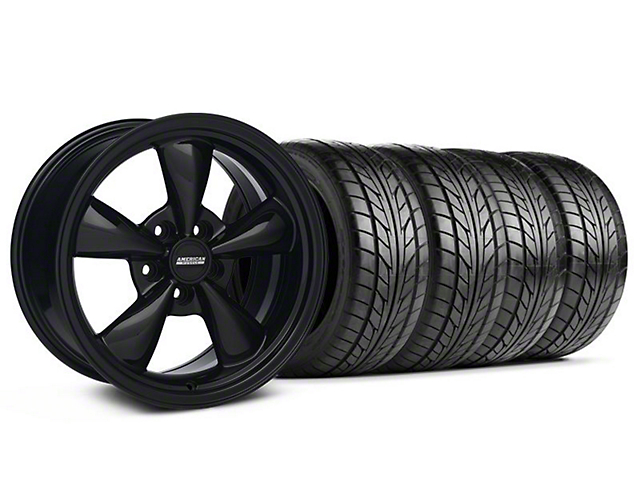 Bullitt Solid Black Wheel & NITTO Tire Kit - 17x9 (94-98 All)