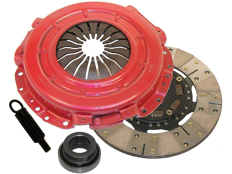 RAM Powergrip Iron/Organic Clutch Kit - 10 Spline (Late 01-04 GT; 99-04 Cobra; 03-04 Mach 1)