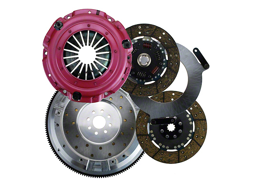 RAM Street Dual Disc Force 9.5 Clutch w/ 8 Bolt Aluminum Flywheel - 10 Spline (96-10 4.6L)