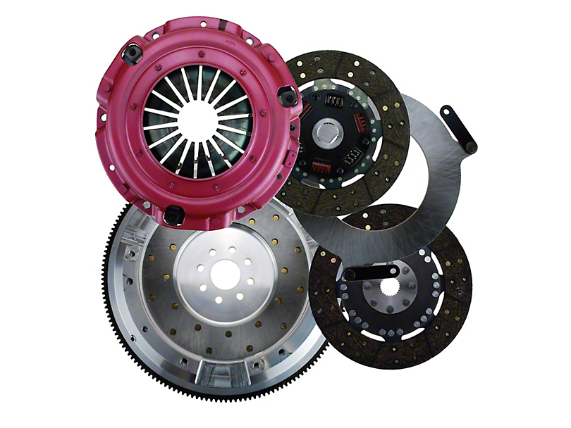 RAM Street Dual Disc Force 9.5 Clutch Kit w/ 8-Bolt Aluminum Flywheel - 26 Spline (96-10 V8)