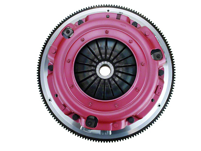 RAM Street Dual Disc Force 9.5 Clutch Kit with 6-Bolt Flywheel; 26 Spline (86-95 5.0L)