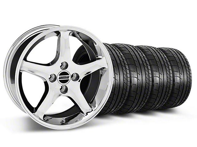 1995 Cobra R Style Chrome Wheel & Mickey Thompson Tire Kit - 17x8 (87-93 All, Excluding Cobra)