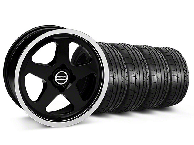 SC Style Black Wheel & Mickey Thompson Tire Kit - 17x8 (87-93 All, Excluding Cobra)
