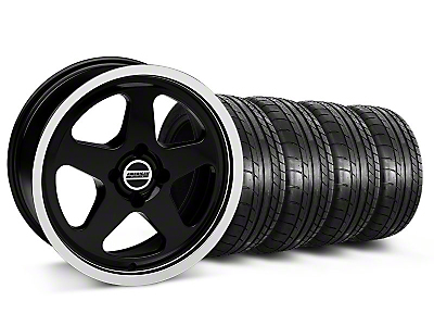 SC Style Black Wheel & Mickey Thompson Tire Kit - 17x8 (87-93 All, Excluding 1993 Cobra)