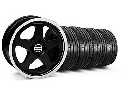 SC Style Black Wheel and Mickey Thompson Tire Kit; 17x8 (87-93 All, Excluding Cobra)
