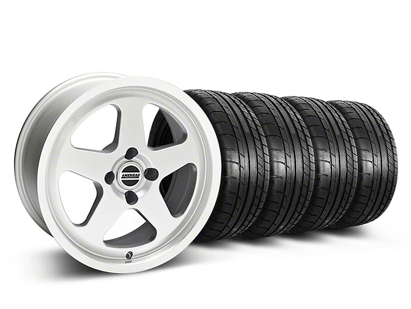 SC Style Silver Wheel & Mickey Thompson Tire Kit - 17x8 (87-93 All, Excluding 1993 Cobra)
