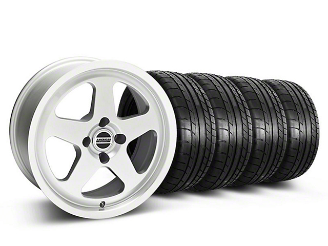 SC Style Silver Wheel & Mickey Thompson Tire Kit - 17x8 (87-93 All, Excluding Cobra)