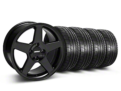 2003 Cobra Style Black Wheel & Mickey Thompson Tire Kit - 17x9 (87-93 All, Excluding Cobra)