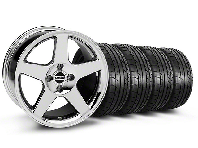 2003 Cobra Style Chrome Wheel & Mickey Thompson Tire Kit - 17x9 (87-93 All, Excluding Cobra)
