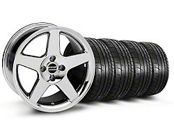 2003 Cobra Style Chrome Wheel and Mickey Thompson Tire Kit; 17x9 (87-93 All, Excluding Cobra)