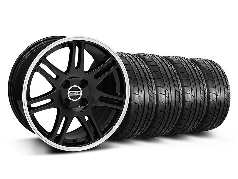 10th Anniversary Cobra Style Black Wheel and Mickey Thompson Tire Kit; 17x9 (87-93 All, Excluding Cobra)