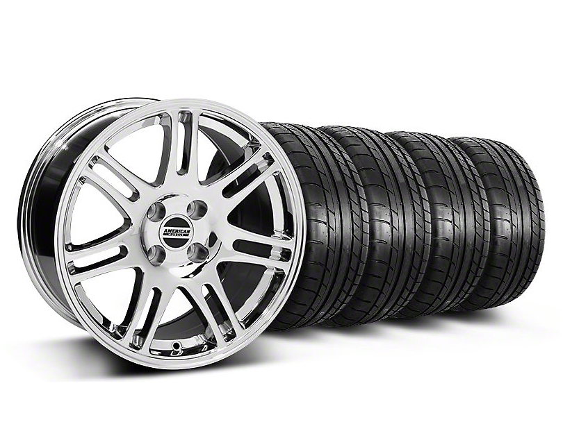 10th Anniversary Cobra Style Chrome Wheel & Mickey Thompson Tire Kit - 17x9 (87-93 All, Excluding Cobra)