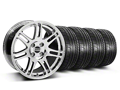 10th Anniversary Cobra Style Chrome Wheel & Mickey Thompson Tire Kit - 17x9 (87-93 All, Excluding 1993 Cobra)