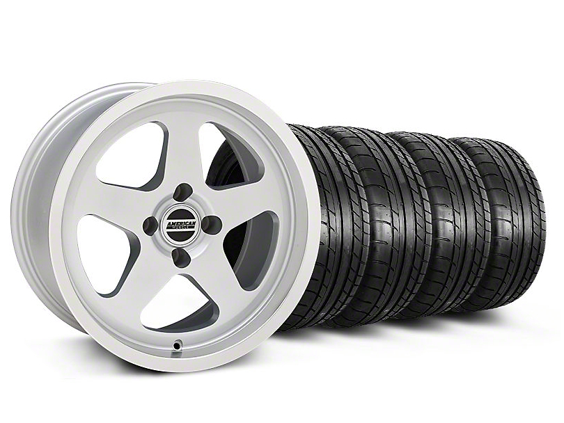 SC Style Silver Wheel & Mickey Thompson Tire Kit - 17x9 (87-93 All, Excluding Cobra)
