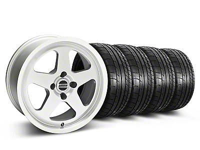 Staggered SC Silver Wheel & Mickey Thompson Tire Kit - 17x8/9 (87-93 All, Excluding 1993 Cobra)