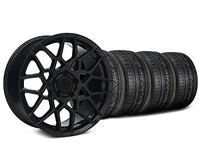 2013 GT500 Style Gloss Black Wheel & NITTO INVO Tire Kit - 18x9 (05-14 GT, V6)