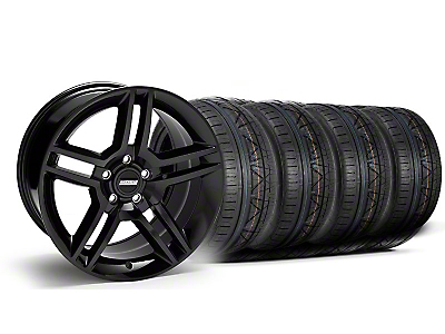 2010 GT500 Style Black Wheel & NITTO INVO Tire Kit - 18x9 (05-14 All)