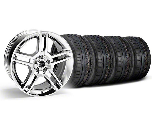 2010 GT500 Style Chrome Wheel and NITTO INVO Tire Kit; 18x9 (05-14 All)