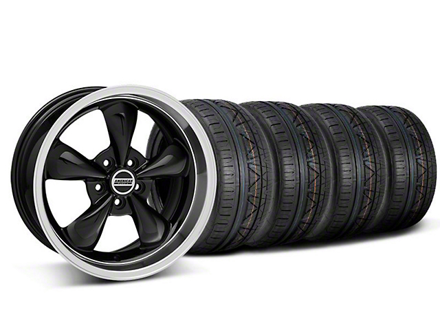 Deep Dish Bullitt Black Wheel & NITTO INVO Tire Kit - 18x9 (05-10 GT; 05-14 V6)