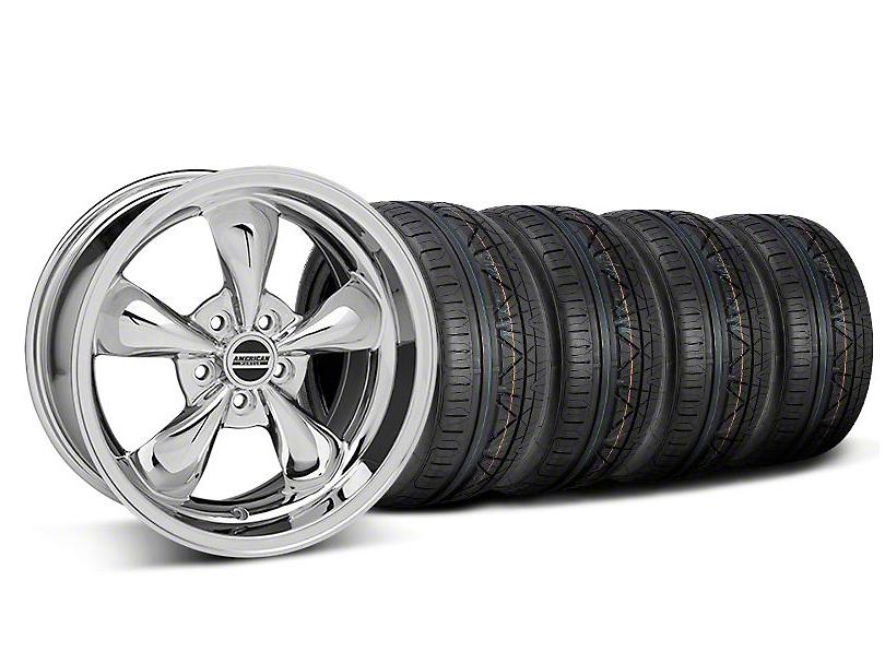 Bullitt Chrome Wheel and NITTO INVO Tire Kit; 18x9 (05-10 GT; 05-14 V6)