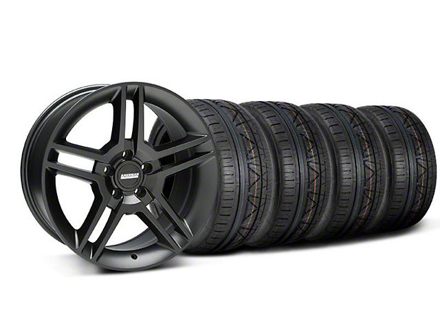 2010 GT500 Style Matte Black Wheel and NITTO INVO Tire Kit; 18x9 (05-14 All)