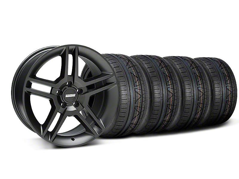 2010 GT500 Style Matte Black Wheel & NITTO INVO Tire Kit - 18x9 (05-14 All)