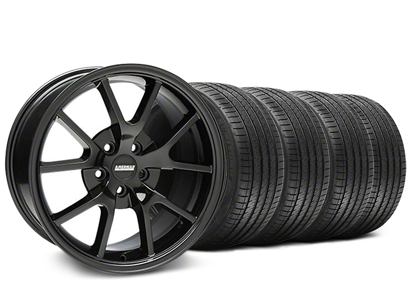 FR500 Style Solid Black Wheel & Sumitomo Maximum Performance HTR Z5 Tire Kit - 18x9 (05-14 All)