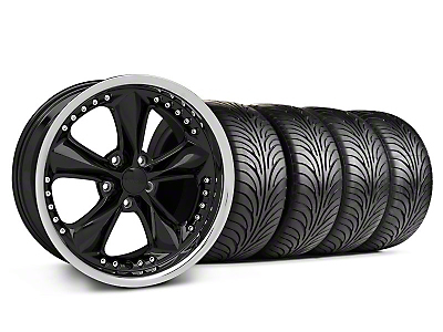 Foose Nitrous Black Wheel & Sumitomo Tire Kit - 18x9 (05-14 GT, V6)