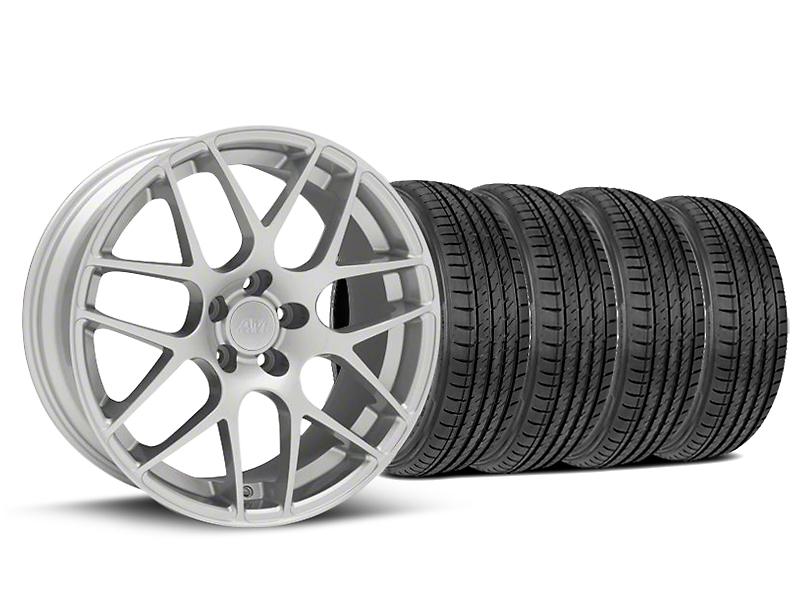 AMR Silver Wheel & Sumitomo Maximum Performance HTR Z5 Tire Kit - 19x8.5 (05-14 All)