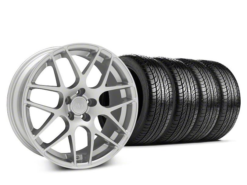AMR Silver Wheel & Pirelli Tire Kit - 19x8.5 (05-14 All)