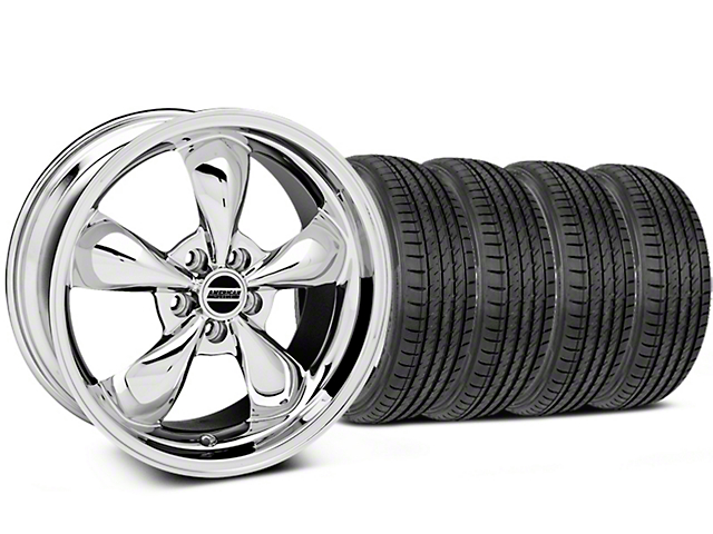 Deep Dish Bullitt Chrome Wheel and Sumitomo Maximum Performance HTR Z5 Tire Kit; 19x8.5 (05-14 Standard GT, V6)