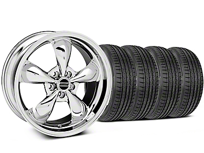 Deep Dish Bullitt Chrome Wheel & Sumitomo Tire Kit - 19x8.5 (05-14 Standard GT, V6)