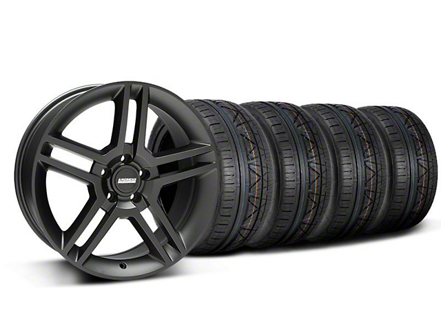 2010 GT500 Style Matte Black Wheel & NITTO INVO Tire Kit; 19x8.5 (05-14 All)