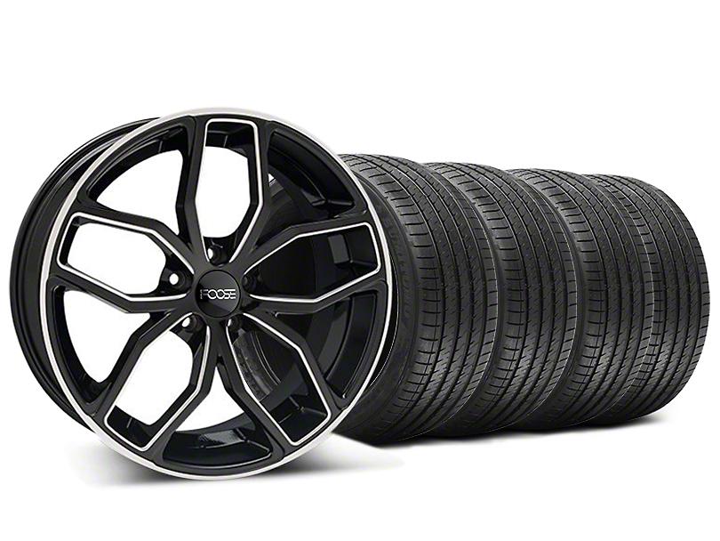 Foose Outcast Black Machined Wheel & Sumitomo Maximum Performance HTR Z5 Tire Kit - 20x8.5 (05-14 All)
