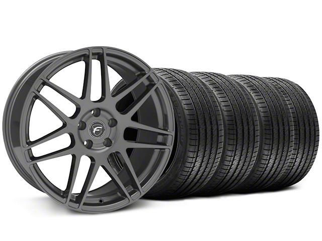 Forgestar F14 Monoblock Gunmetal Wheel and Sumitomo Maximum Performance HTR Z5 Tire Kit; 20x9 (05-14 All)