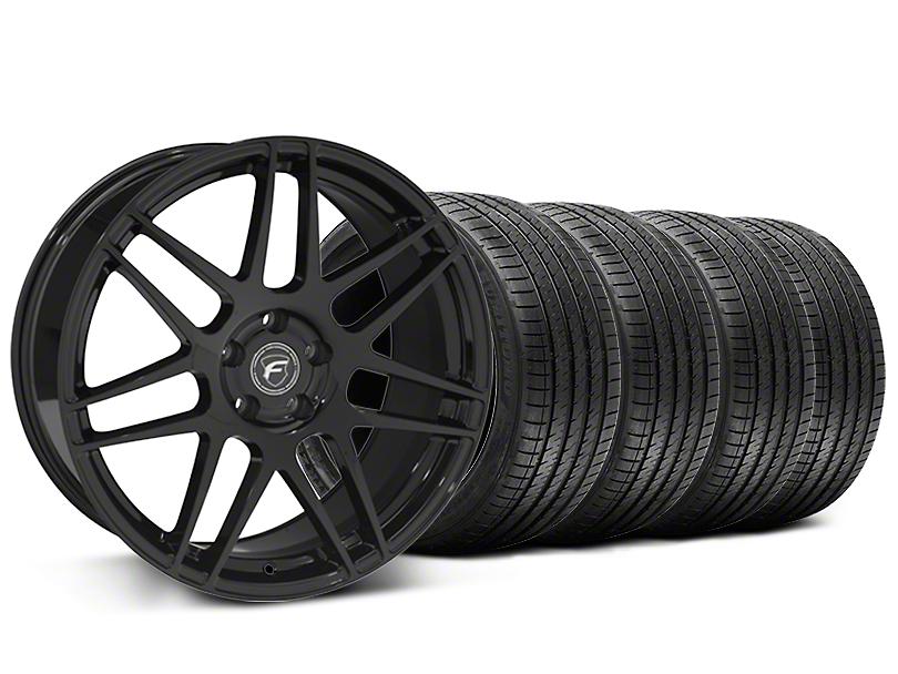 Forgestar F14 Monoblock Piano Black Wheel and Sumitomo Maximum Performance HTR Z5 Tire Kit; 20x9 (05-14 All)