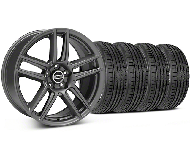 Laguna Seca Style Charcoal Wheel and Sumitomo Maximum Performance HTR Z5 Tire Kit; 19x9 (05-14 All)