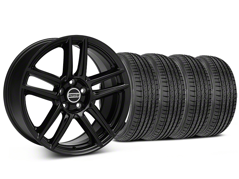 Laguna Seca Style Black Wheel & Sumitomo Maximum Performance HTR Z5 Tire Kit - 19x9 (05-14 All)