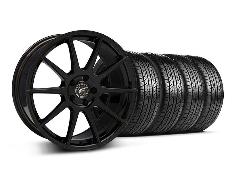 Forgestar CF10 Monoblock Piano Black Wheel & Pirelli Tire Kit - 19x9 (05-14 All)