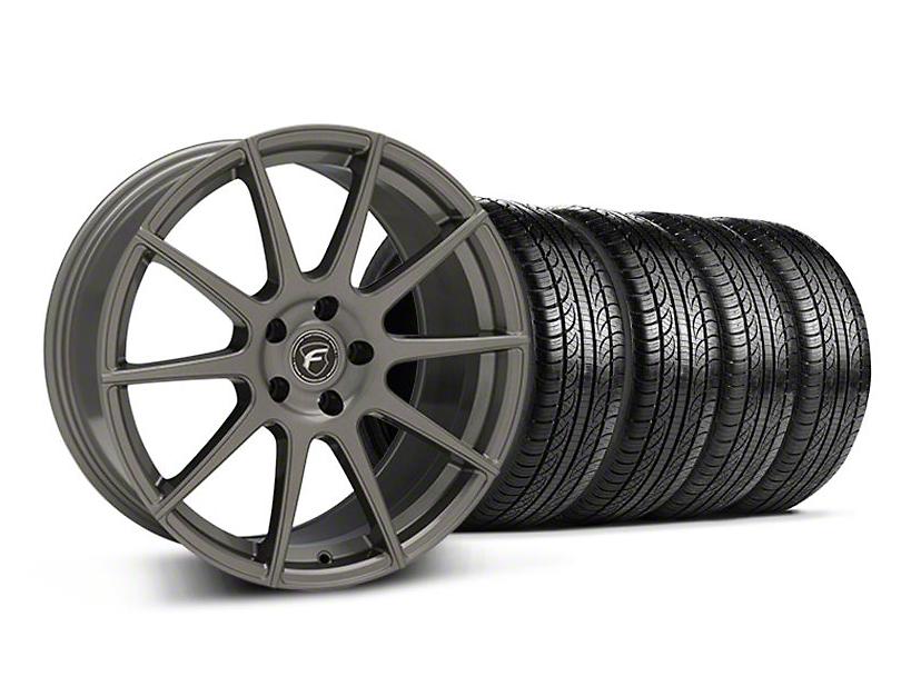 Forgestar CF10 Monoblock Gunmetal Wheel & Pirelli Tire Kit - 19x9 (05-14 All)