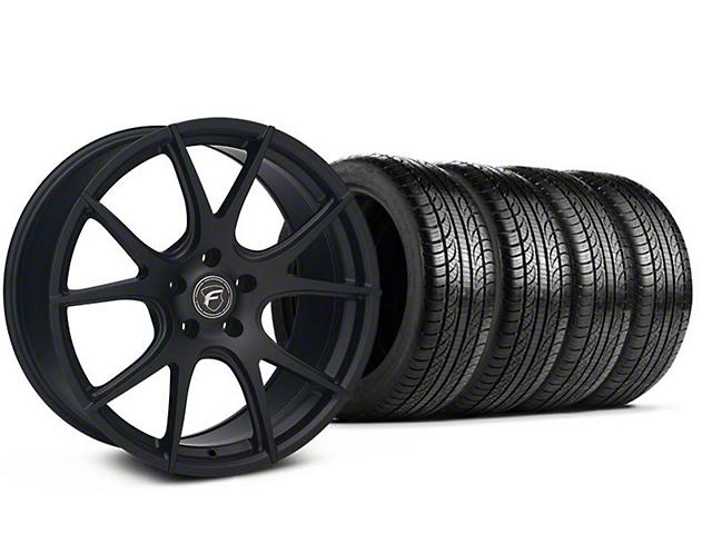 Forgestar CF5V Monoblock Matte Black Wheel and Pirelli Tire Kit; 19x9 (05-14 All)